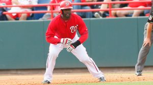 Tony Gwynn Jr playing with Nationals